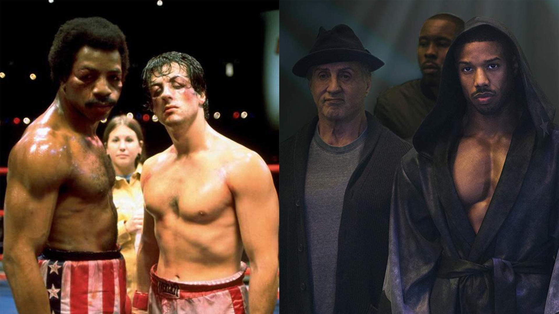 lutadores de boxe rock e creed
