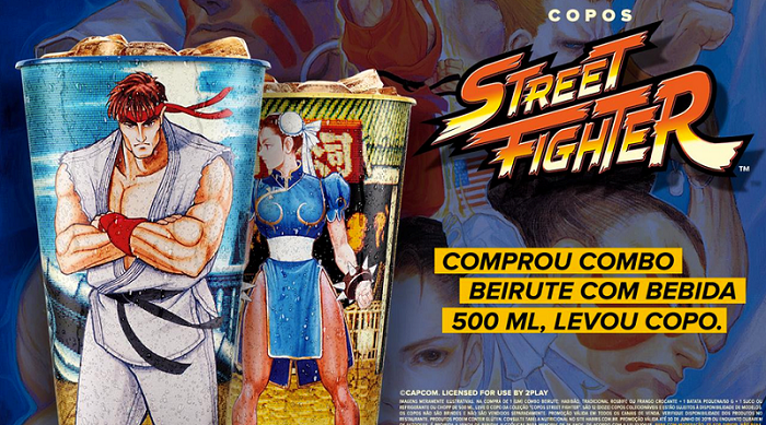 Copos 2019 do Street Fighter voltam por tempo limitado no Habib's