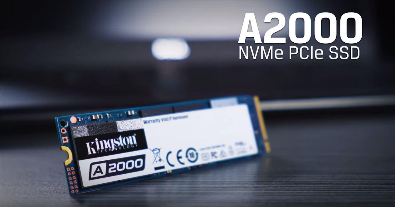 Kingston   Empresa lança novo SSD A2000 NVMe PCIe da nova geração