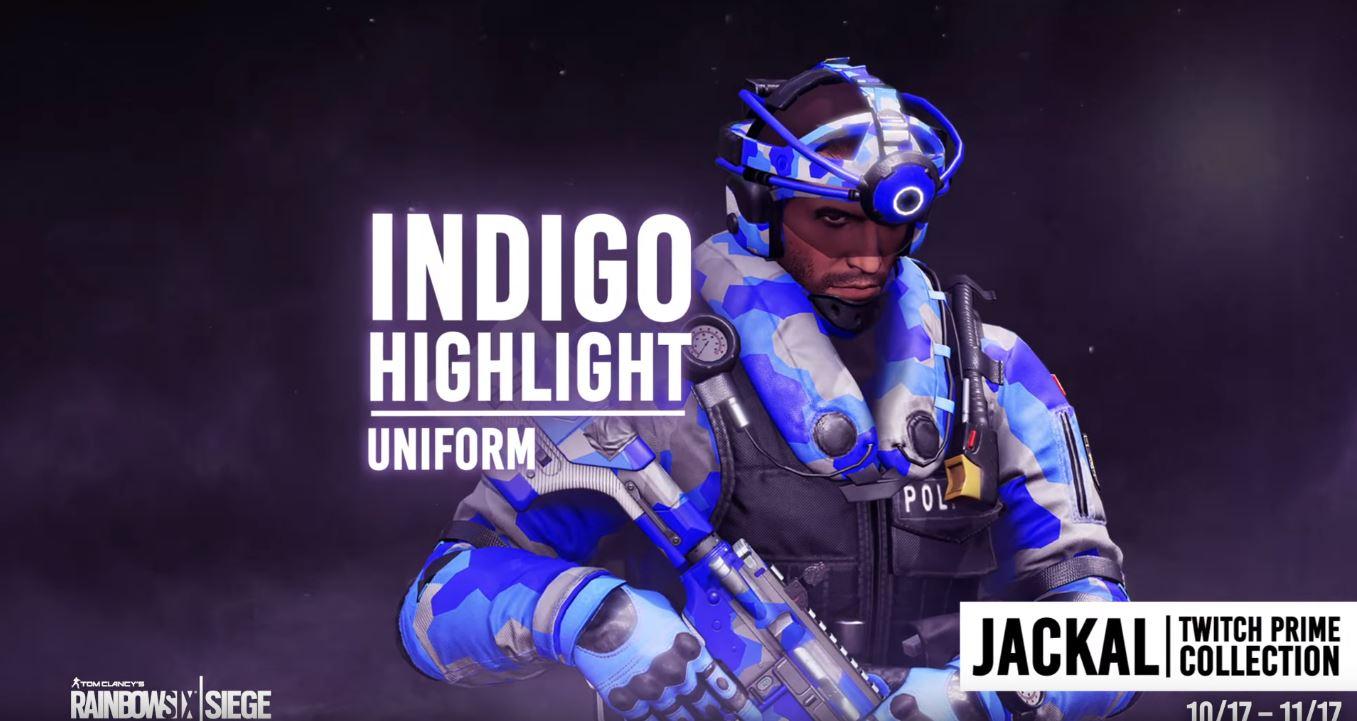 Novas skins grátis em Rainbow Six Siege para assinantes Twitch Prime