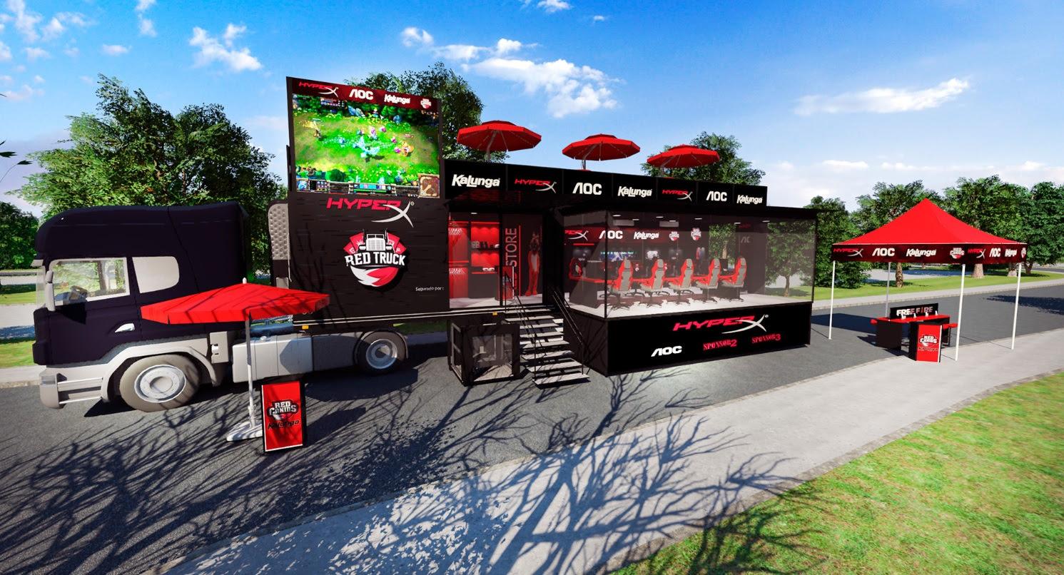 HyperX | RED Truck está em busca de jogadores de LoL e Free Fire da RED Canids Kalunga