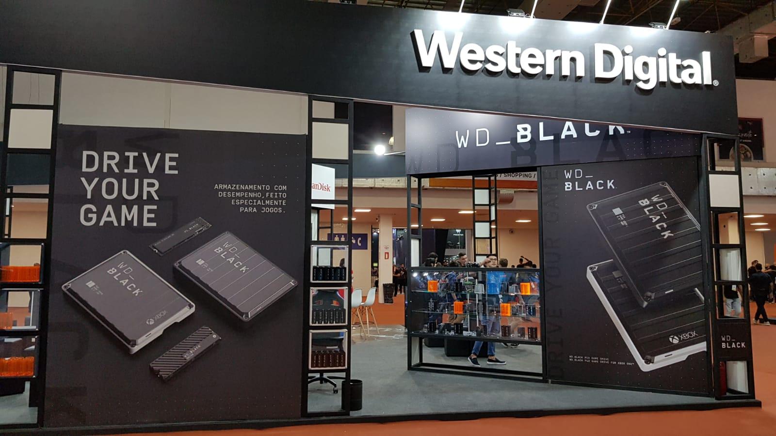 BGS 2019 | Western Digital apresentou durante a feira produtos da linha WD Black, voltados ao público gamer