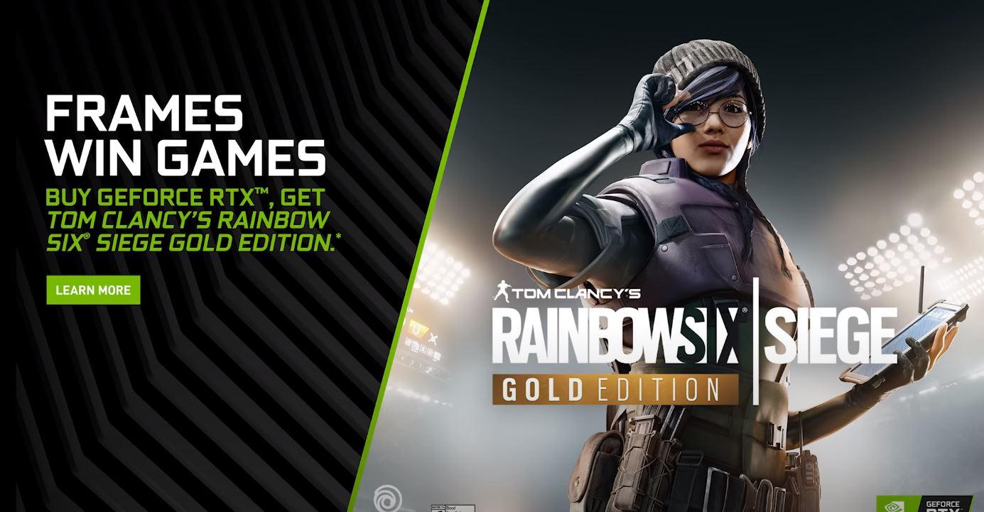 NVIDIA | Nova promoção para quem adquirir Geforce RTX com Rainbow Six Siege Gold Edition