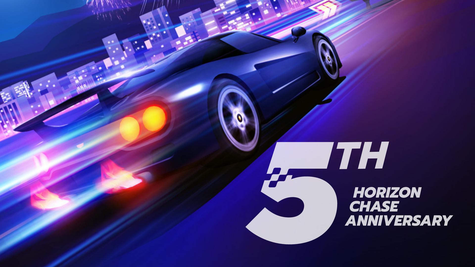 Aquiris Game Studio | Horizon Chase comemora seu 5º Aniversário com novos desafios e uma skin especial