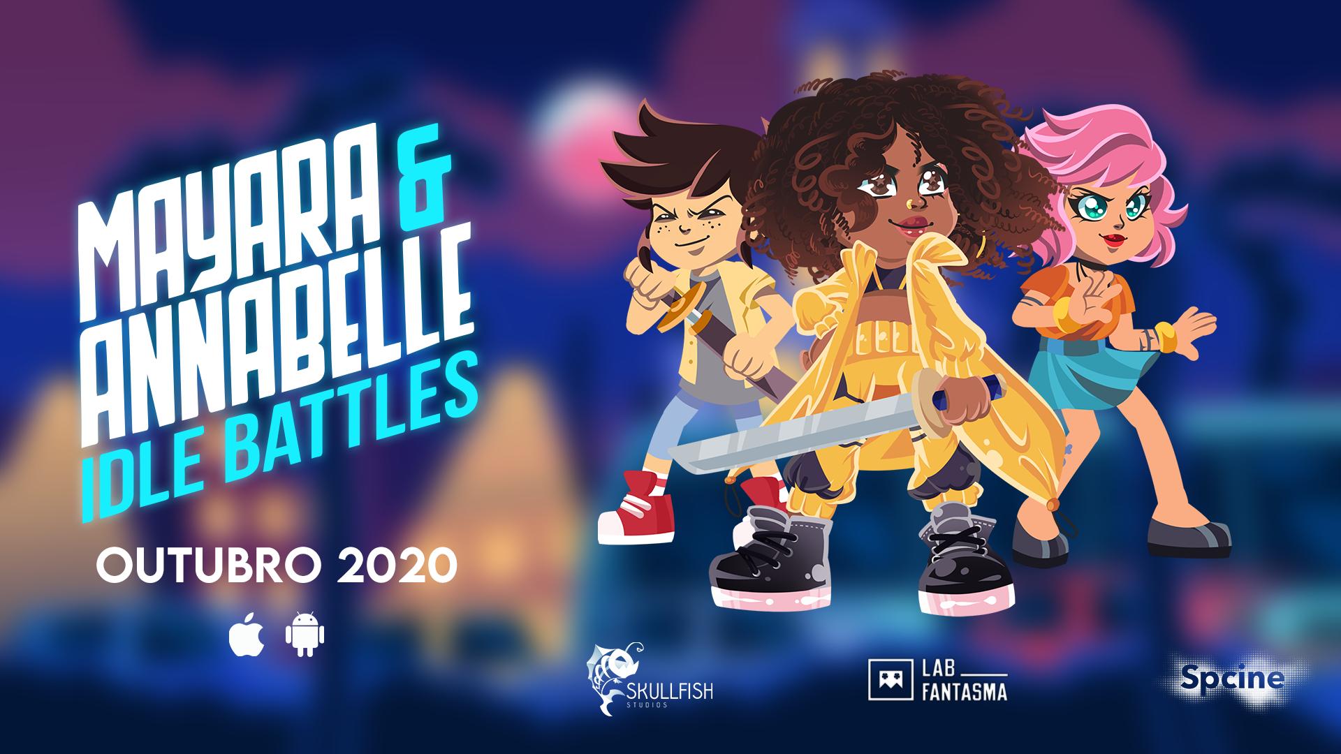 Game nacional mobile Mayara & Annabelle: Idle Battles chega agora em outubro