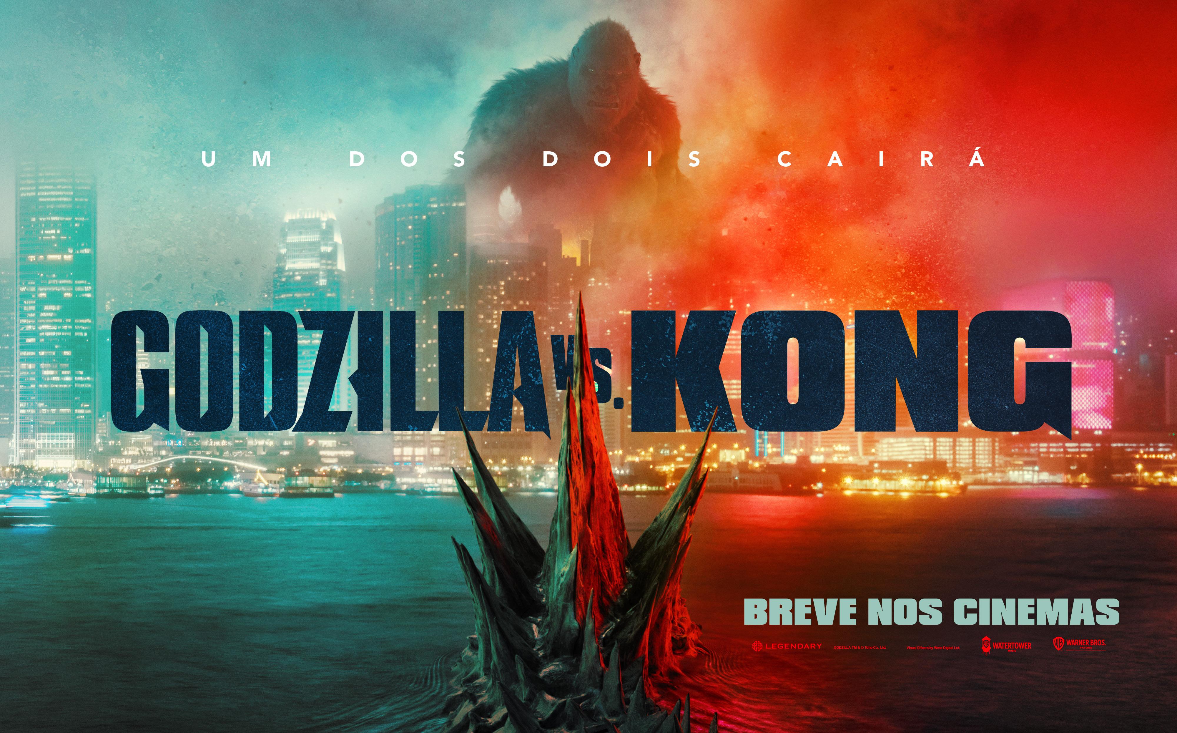 Warner | Godzilla vs. Kong recebe primeiro trailer e artes