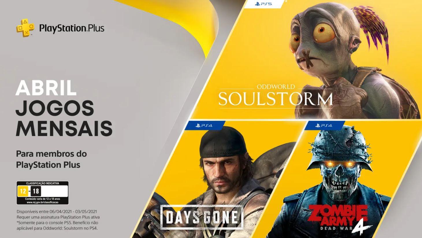 Playstation | Divulgado os jogos disponíveis aos assinantes da PS Plus de Abril