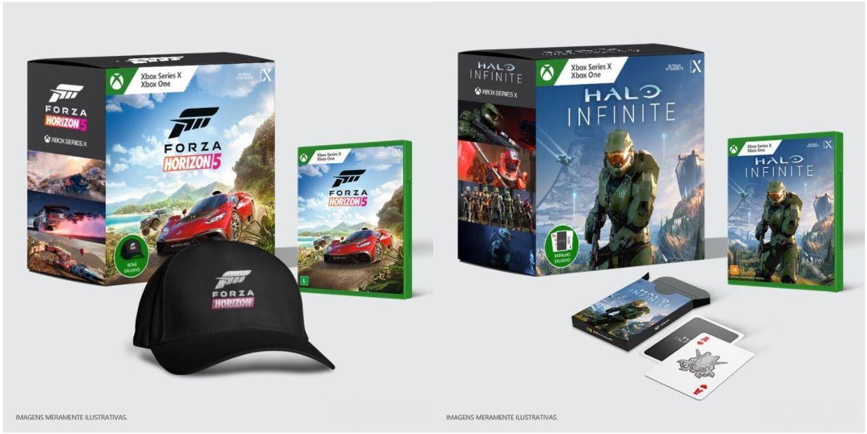 Microsoft | Xbox anuncia packs exclusivos para Halo Infinite e Forza Horizon 5